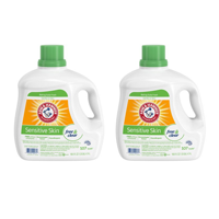 (2 pack) Arm & Hammer Sensitive Skin Free & Clear Liquid Laundry Detergent, 160.5 fl oz