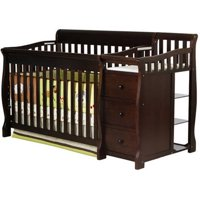 Dream On Me, 5-in-1 Brody Convertible Fixed-Side Crib With Changer, Espresso