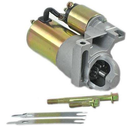 Rear Mount Starter (NEW CHEVY MINI STARTER FITS 283 327 350 396 454 FITS 153 TOOTH FLYWHEEL 10461445 STRAIGHT MOUNT)
