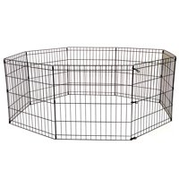 36 Tall Dog Playpen Crate Fence Pet Kennel Play Pen Exercise Cage -8 Panel Bl...