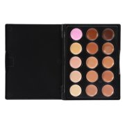 HERCHR 3 Types 15 Colors Professional Concealer Make Up Face Eye Circle Cover Cream Cosmetic,