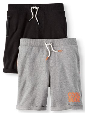 French Terry Shorts, 2-Piece Multi-Pack Set (Little Boys & Big Boys)