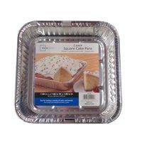 Mainstays Square Cake Pan, 2 ct
