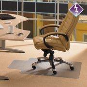 "Computex Anti-Static Advantagemat   PVC Chair Mat   for standard pile carpets (3/8"" or less)   Rectangular with Lip   Size 36"" x 48"""