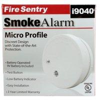 Kidde Fire Sentry Micro Profile 3 Year Smoke Alarm, 9 Volt Battery