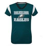 0de144743 Girls Youth Midnight Green Philadelphia Eagles Team V-Neck Jersey