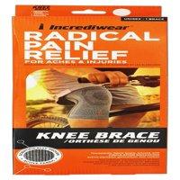 Incrediwear Radical Pain Relief Knee Brace Unisex Gray, Large,  1 Ea
