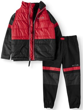 Puffer Vest, Tee, and Twill Jogger, 3-Piece Set (Little Boys)