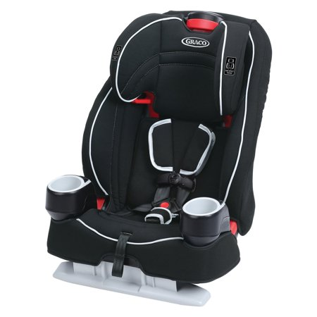 Black Child Seat (Graco Atlas 65 2-in-1 Harness Booster Car Seat, Glacier )