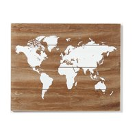 Better Homes & Gardens Maple Wood With World Print