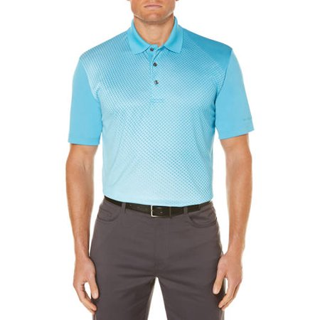 Collar Golf Shirt (Ben Hogan Men's performance short sleeve fading printed polo )