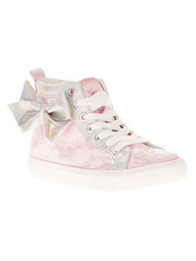 Jojo Siwa Girl's Crushed Velvet High Top Casual Sneaker