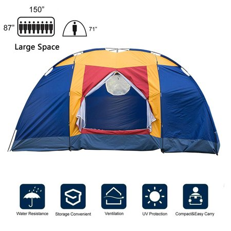 Karmas Product Outdoor 8 Persons Easy SetUp Family Large Tent for Traveling Camping Hiking with Portable Bag