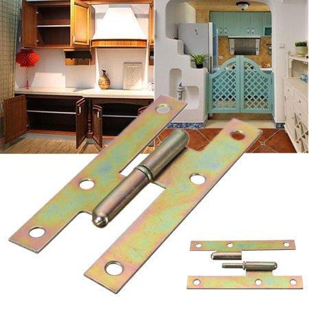 Door Left Hinge Cabinet (4'' H Shape Iron Left / Right Door Hinge For Kitchen Cabinet Cupboard Window )