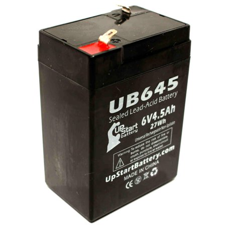 Skytech Sc46 SC46 Battery Replacement -  UB645 Universal Sealed Lead Acid Battery (6V, 4.5Ah, 4500mAh, F1 Terminal, AGM, SLA) - Includes TWO F1 to F2 Terminal (Skytech Battery)