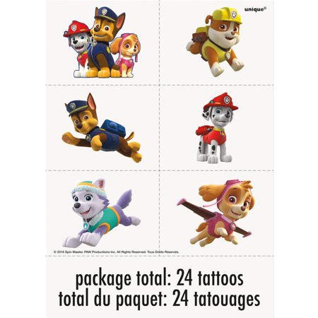 PAW Patrol Temporary Tattoos, 24ct (Hockey Tattoos)