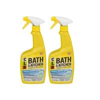 (2 Pack) CLR Bath & Kitchen Multi-Surface Cleaner, Enhanced Formula Fresh Scent, 26 Oz