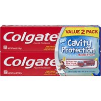 (4 Pack) Colgate Kids Bubble Fruit Cavity Protection Toothpaste, 4.6 oz
