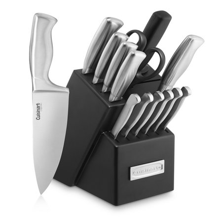 Cuisinart 15pc Stainless Steel Hollow Handle Cutlery Block Set ()