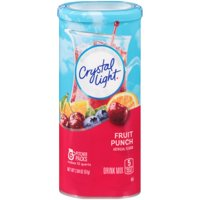 (6 Pack) Crystal Light Fruit Punch Drink Mix, 6 count Canister