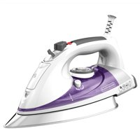 BLACK+DECKER Professional Steam Iron with Stainless Steel Soleplate and Extra-Long Cord, Purple, IR1350S-T