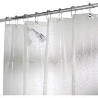 "InterDesign Rain EVA Shower Curtain Liner, 72"" x 72"""