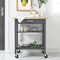 Mainstays Multifunction Kitchen Cart, Black