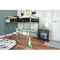 DHP Junior Metal Loft Bed, Twin Size, Multiple Colors