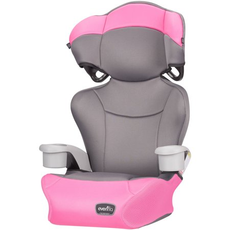 Evenflo Big Kid High Back Booster Car Seat, Pink