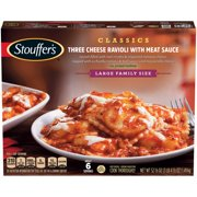 STOUFFER'S Large Family Size Three Cheese Ravioli with Meat Sauce 52.8 oz. Box