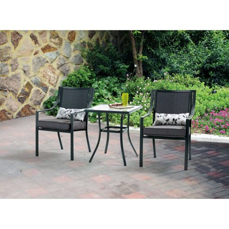 Mainstays Alexandra Square 3-Piece Outdoor Bistro Set