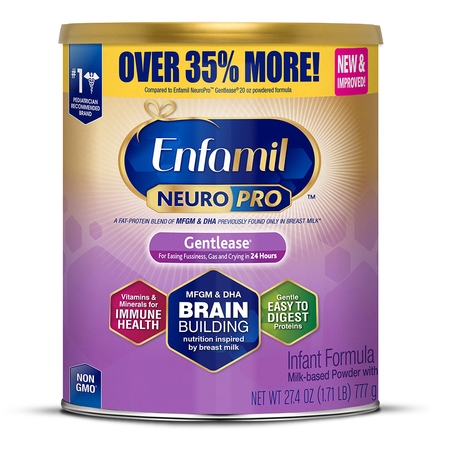 Enfamil Gentlease NeuroPro Baby Formula, 27.4 oz Powder Value Can Baby Only Toddler Formula