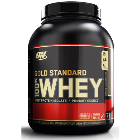 Optimum Nutrition Gold Standard 100% Whey Protein Powder, Extreme Milk Chocolate, 24g Protein, 5 Lb ()
