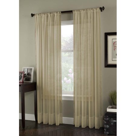 Curtainworks Soho Voile Solid Sheer Rod Pocket Single Curtain Panel (Soho Panel)
