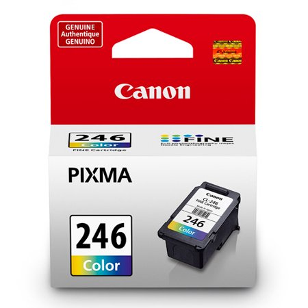 Canon CL-246 Tri-Color Inkjet Print Cartridge (600 Inkjet Printer Ink)