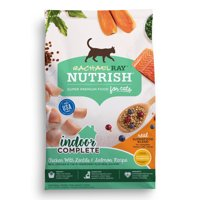 Rachael Ray Nutrish Indoor Health Chicken, Lentils & Salmon Natural Dry Cat Food (Various Sizes)