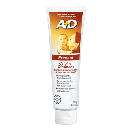 (2 Pack) A+D Original Diaper Rash Ointment, Skin Protectant, 4 Ounce Tube