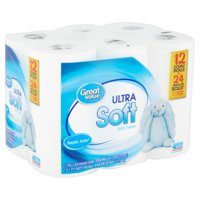 Great Value Ultra Soft Bath Tissue, 12 Count