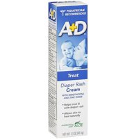 A+D Diaper Rash Cream, Zinc Oxide, with Aloe 1.50 oz (Pack of 2)