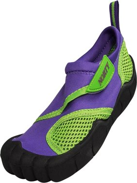 Norty Little Kids and Children / Toddler Athletic Wave Water Shoes & Aqua Water Socks - Waterproof Slip-on Shoes for Pool, Beach, Surf Girls and Boy - Breathable Mesh & Neoprene for ultimate comfort