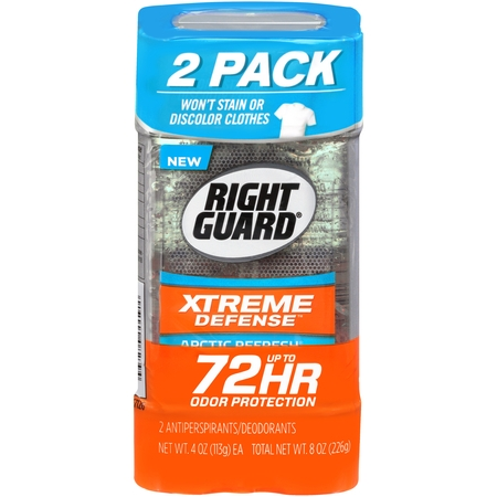 - Right Guard Xtreme Defense 5 Antiperspirant Deodorant Gel, Arctic Refresh, 4 Ounce