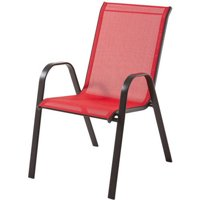 Mainstays Heritage Park Stacking Sling Chair, Red