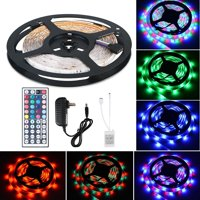 TSV 16.4Ft 300 LED RGB Muliti Color Bias Lighting Changing RGB LED TV Backlight with 44 Key IR Remote Control For TV HDTV Monitor Home Theater Accent lighting Kit