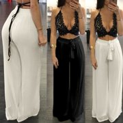 ZANZEA New Women Chiffon High Waist Palazzo Yaga Pants Wide Leg Loose Casual Long Trousers