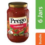 (6 Pack) Prego Pasta Sauce, Traditional, 14 oz. Jar