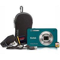 "Kodak M5350 16MP Digital Camera Bundle w/ Optical 5x Zoom, 2.7"" LCD Display and Kodak Share Button, Emerald Green"