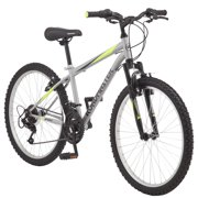 "Roadmaster Granite Peak Boy's Mountain Bike, 24"" wheels, Silver"