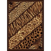 34d4ffb23d Designer Home Epoch Area Rugs - 910-03150 Novelty Black Animal Prints  Leopard Tiger Rug