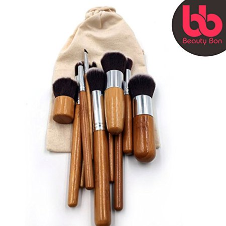 Professional Makeup Brush Set, 11-Pc Set with Comfortable Wood Handles Great for Precision Makeup, Contouring, Includes Free Case, By Beauty Bon?](Halloween Makeup Bruises)