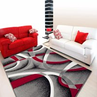 Persian Rugs 2305 Gray Modern Abstract Area Rug 5x7